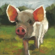 """This Little Piggy..."" - Original Fine Art for Sale - © Dana Cooper"