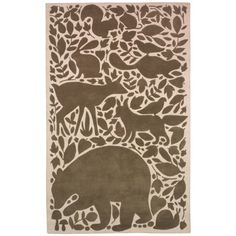 DwellStudio Kids Rug Woodland Tumble Chocolate