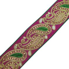 Paisley Design Fabric Trim Supplies Royal by Indianbeautifulart