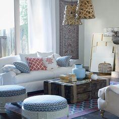 Custom Miramar Slipcovered Sofa in Designer Fabrics