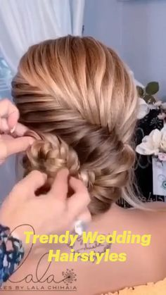 Easy Hairstyles For Long Hair, Braided Hairstyles, Wedding Hairstyles, Bridal Hair Buns, Tips Belleza, Hair Today, Hair Dos, Hair Inspiration, Hair Beauty