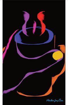 Comfort in the Palm Black Light Poster by AmberJoyLiemArtShop