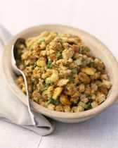 Southern Cornbread Dressing - making for Thanksgiving