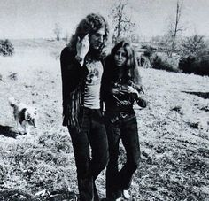 Robert and Maureen with Strider, at his Jennings Farm,  1970