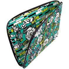 "Vera Bradley 17"" Laptop Sleeve ($45) ❤ liked on Polyvore"