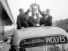 Another open-topped bus tour here, this time through the streets of Wolverhampton. Wolves stars Bill Slater and Gerry Harris show off the FA Cup in They comfortably beat Blackburn in the final at Wembley, with two of their goals coming from Norman Deeley Wolverhampton Wanderers Fc, Bristol Rovers, Image Foot, Wolf Images, Blackburn Rovers, Historical Images, West Midlands, Fa Cup, World History