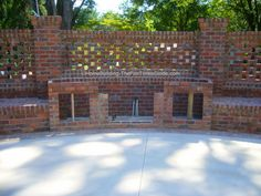 Pierced brick wall with area for built-in outdoor kitchen