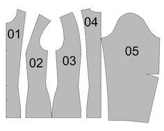 blouse, princess line to shoulder http://strihy-na-obleceni.blogspot.cz/