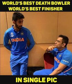 Jasprit Bumrah with MS Dhoni India Cricket Team, World Cricket, Cricket Sport, Dhoni Quotes, Ms Dhoni Wallpapers, Cool Science Facts, Ms Dhoni Photos, Cricket Wallpapers, Joker Images