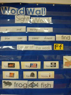 word walls | PreK--Preschool Ideas from Noey: word wall