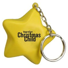 """Custom Printed Star Shaped Stress Reliever Keychains: Available Color: Yellow. Product Size: 2-1/4"""" dia. x 1"""" Imprint Area: Front or Back: 0.75"""" x 0"""". Box Weight: 34 lbs. Packaging: 1000. Material: Polyurethane. #customkeychain  #promotionalproduct #customproduct #christmasgiveaways"""