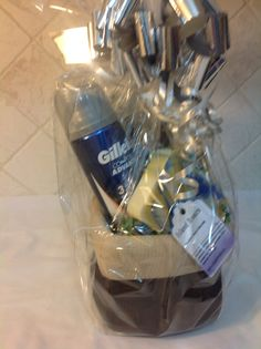 Men's Gift Basket Holiday Gift Baskets, Gift Baskets For Men, Holiday Gifts, Fiji Water Bottle, Smart Water, Drinks, Xmas Gifts, Drinking, Beverages