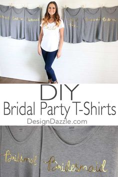 Your engaged daughter wants gold foil bridal shirts.You say-you've got the perfect machine to cut these out with! DIY Gold Foil Bridal T-Shirts using Cricut