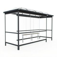 3D Model of Glass top bus stop shelter 03 37