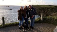 Sunday 5th November 2017: went to see the new house at The Lizard. Family photo (minus Liam) by the most Southerly cafe in UK
