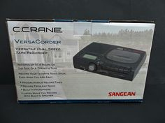 VersaCorder By C. Crane Dual Speed Cassette Recorder NEW IN BOX #VersaCorder