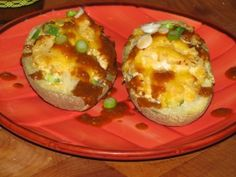 SKINNY Double Baked Cheesy Potatoes UNDER 150 CALORIES!