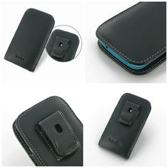 PDair Leather Case for HTC Desire 500 - Vertical Pouch Type Belt Clip Included (Black)
