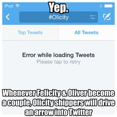 What can I say.. Oh I know I'm an #Olicity shipper lol