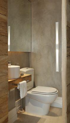 31 Ideas Bath Room Modern Wood Half Baths For 2019 Modern Room, Modern Bathroom, Small Bathroom, Master Bathroom, Bathroom Toilets, Laundry In Bathroom, Bad Inspiration, Bathroom Inspiration, Beton Design