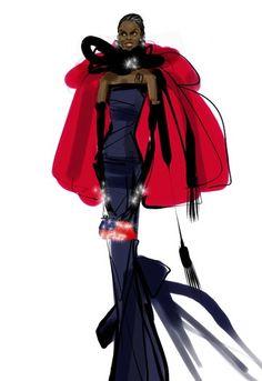 first lady fashion illustrations