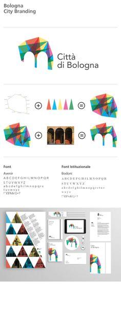 Bologna City Branding - Proposta Marchio on Behance City Branding, Destination Branding, Museum Branding, Logo Branding, Brand Identity Design, Graphic Design Branding, Corporate Design, City Logo, Marken Logo