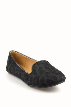 Slipper Flats in Leopard Print