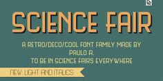 Science Fair free font by Paulo R