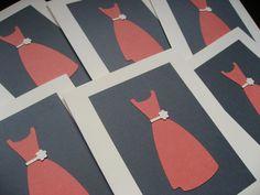 Orange Gray And Ivory Bridesmaid Thank You Cards #wedding, #weddings, #pinsland, https://apps.facebook.com/yangutu