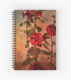#SALE Get 15% off everything. Use HAPPY15  #art #notebook #hollyhocks