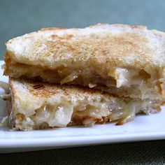 grilled carmelized onion and cheese sandwiches--perfect with vegetable soup!