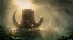 mountain ancient matte painting - Google Search