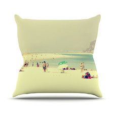 Lazy Days by Ingrid Beddoes Summer Beach Throw Pillow