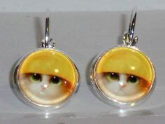 Verrückte Ohrringe und Schmuck Welt  - Ohrringe Katze Damen Ohrschmuck Modeschmuck ohne Stein Metalllegierung Hänger Neuware