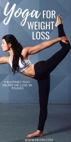 workout routine no equipment Yoga for weight loss: these 7 yoga routines helped me lose 20 pounds. I find the best time to do these sequences is in the morning after I wake up. You can do these workouts at home and need almost no equipment. Fast Weight Loss Tips, Yoga For Weight Loss, Losing Weight Tips, How To Lose Weight Fast, Weight Gain, Weight Loss Routine, Lose Weight At Home, Yoga Fitness, Health Fitness