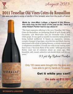 Wine of the Month for Wymans