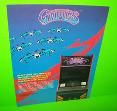 Bally Midway GAPLUS 1984 Original NOS Video Classic Arcade Game Promo Sale Flyer #MidwayGaplus