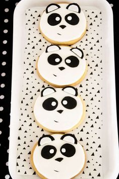 """Surely you'll love this unique and on-point party at Kara's Party Ideas. This Panda Bear """"Panda-monium"""" Birthday Party is like no other! Panda Bear Cake, Bolo Panda, Panda Party, Bear Party, Panda Birthday Cake, Panda Cupcakes, Panda Baby Showers, Bear Cookies, Cookies Kids"""