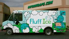 Food Truck For Fluff Ice - http://roaminghunger.com/the-fluff-ice-truck/