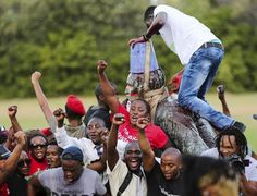 """Statue of White Terrorist Cecil Rhodes Finally Comes Down in SouthAfrica! ByLuwezi Kinshasa, Secretary General, African Socialist International  Student movement topples Rhodes' monument. For more than 20 years the neocolonialist government of the ANC let it stand. LONDON–One-month-long student protests known as """"Rhodes Must Fall,"""" also known as """"Poo Protests"""" at the University of Cape Town (UCT), South Africa, forced the academic authority to concede to the demand of black students and…"""