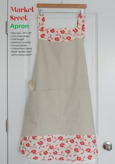 The Market Street Apron Pattern Download at Connecting Threads