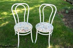 how to paint rusted metal chairs, painted furniture, Before Picked out of the neighbors trash