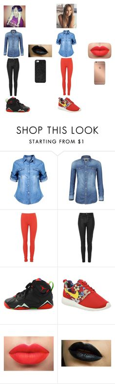 """""""Blue Jean"""" by arie-boi on Polyvore featuring Topshop, Retrò, NIKE, BaubleBar and Mura"""