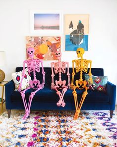 Make no bones about it, we're getting cracking on our Halloween decor over here! Are you waiting until October or are you a fellow… Chic Halloween, Modern Halloween, Pink Halloween, Halloween Inspo, Halloween Birthday, Diy Halloween Decorations, Halloween House, Halloween 2020, Holidays Halloween