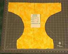 How to sew a cloth diaper