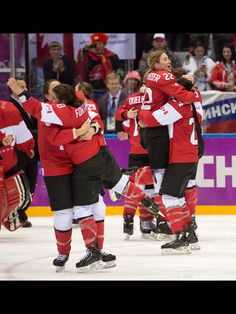 Canadian Women's Hockey Team wins Gold in the 2014 Sochi Winter Olympics!! Way to go, eh!! So very proud of you all!