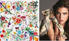 Gucci Flora scarf - Cole wallpaper Flora