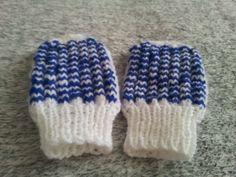 Baby rukavicky  Bielo.modre 2/2
