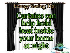 Curtains Can Keep Home warm at night Energy Saving Tips, Save Energy, Cheap Electricity, Hold On, Curtains, Warm, How To Plan, Night, Shopping