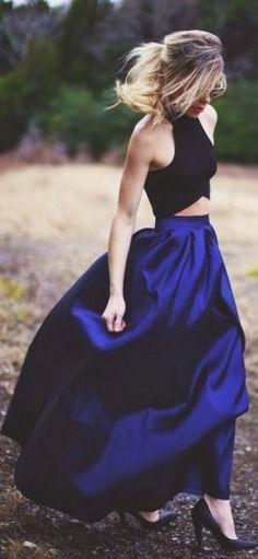 C�mo combinar las faldas largas en primavera: Fotos de los modelos